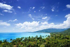die Insel Koh Samui mit ihren Palmen gesäumten Stränden