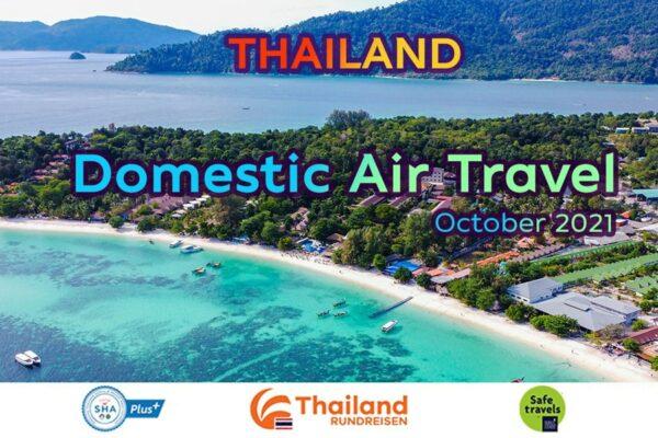 Blick auf die Inselwelt von Thailand, welche nun durch mehr Inlandsflüge, leichter erreichbar ist.