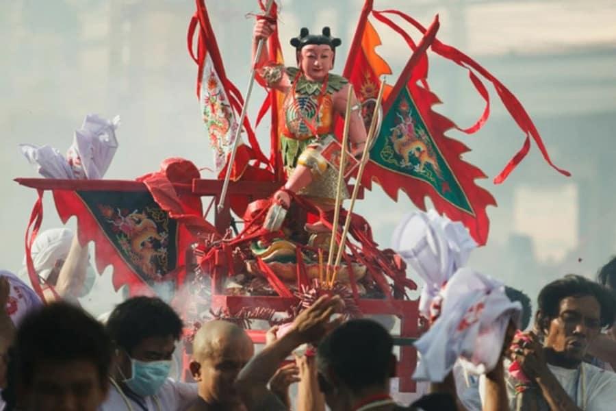 Einer der 9 Götter denen das Phuket Vegetarian Festival gewidmet ist.