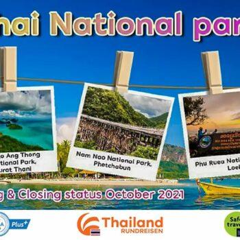 Thailand hat weiter Nationalparks geöffnet