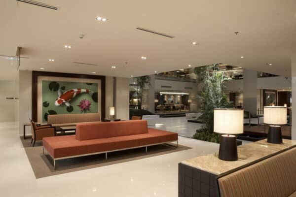 Lobby des Bumrungrad International Hospital in Bangkok